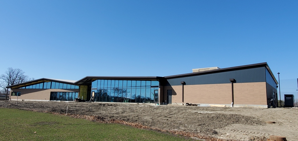 New Clubhouse Windows Facing Courses